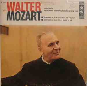 Bruno Walter, Philharmonic-Symphony Orchestra Of New York - Mozart - Sympho ...